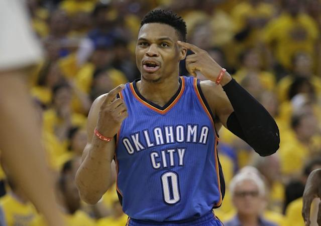 Regardless of the contract route Westbrook chooses, he is in line for some serious money. (AP)