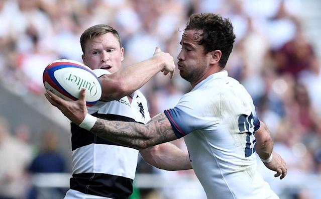 Rugby Union - England v Barbarians, Twickenham Stadium, London, Britain - May 27, 2018 England's Danny Cipriani in action with Barbarians' Chris Ashton Action Images via Reuters/Tony O'Brien