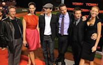 <p>Next up, Lively scored a role the Ben Affleck acclaimed thriller <i>The Town</i>. She poses with co-stars Chris Cooper, Rebecca Hall, John Hamm, Ben Affleck, and Jeremy Renner at the Boston premiere. <i>(Photo: Brian Babineau/Getty Images)</i></p>