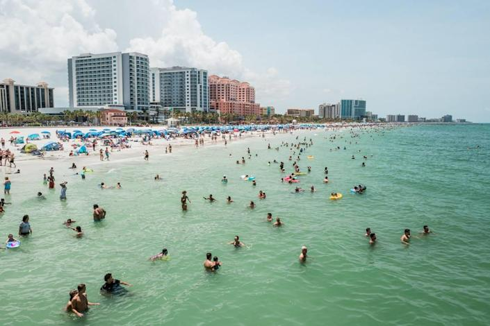 Clearwater Beach was the closest beach to South Florida to make Holidu's list of best-rated beaches.