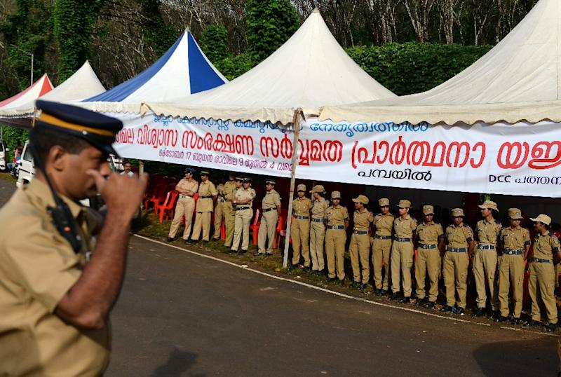 Kerala has drafted in police to ensure the court ruling is respected (AFP Photo/ARUN SANKAR)