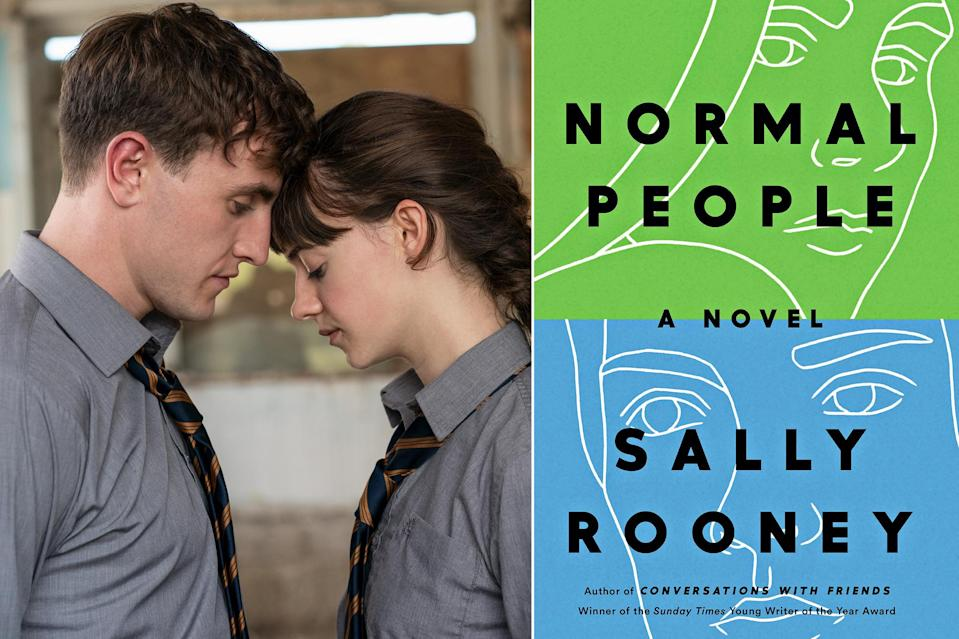 """<p>One of the most notable parts of <a href=""""https://ew.com/tag/sally-rooney/"""" rel=""""nofollow noopener"""" target=""""_blank"""" data-ylk=""""slk:Sally Rooney"""" class=""""link rapid-noclick-resp"""">Sally Rooney</a>'s millennial love story is the insight into Connell and Marianne's constant stream of consciousness; how much they're overthinking every significant and less significant thought and feeling. In the Hulu adaptation of <a href=""""https://ew.com/tv/hulu-normal-people-tv-romance/"""" rel=""""nofollow noopener"""" target=""""_blank"""" data-ylk=""""slk:Normal People"""" class=""""link rapid-noclick-resp""""><em>Normal People</em></a>, those insights translate into stolen glances and pained silences. Any book reader is armed with that extra knowledge going in, but thanks to the stellar acting of the leads <a href=""""https://ew.com/tag/daisy-edgar-jones/"""" rel=""""nofollow noopener"""" target=""""_blank"""" data-ylk=""""slk:Daisy Edgar Jones"""" class=""""link rapid-noclick-resp"""">Daisy Edgar Jones</a> and <a href=""""https://ew.com/tag/paul-mescal/"""" rel=""""nofollow noopener"""" target=""""_blank"""" data-ylk=""""slk:Paul Mescal"""" class=""""link rapid-noclick-resp"""">Paul Mescal</a>, having read the novel isn't a prerequisite for keenly experiencing the nuances of their emotions while watching the limited series. Both the book and the television show will leave you equally sad and horny — the show comes with the bonus of not having to just imagine Connell's lusted-after, um, chain.</p>"""