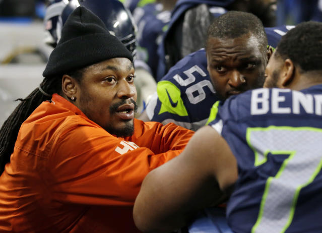 Marshawn Lynch retired after the 2018 season. (AP Photo/Ted S. Warren, archive)