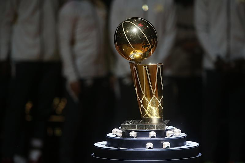 Will the NBA's Larry O'Brien trophy be raised this season? (Steve Russell/Toronto Star via Getty Images)