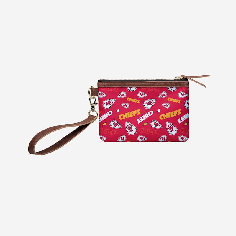 Chiefs Repeated Logo Wristlet