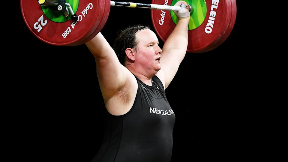 Laurel Hubbard, pictured here in action at the Commonwealth Games in 2018.