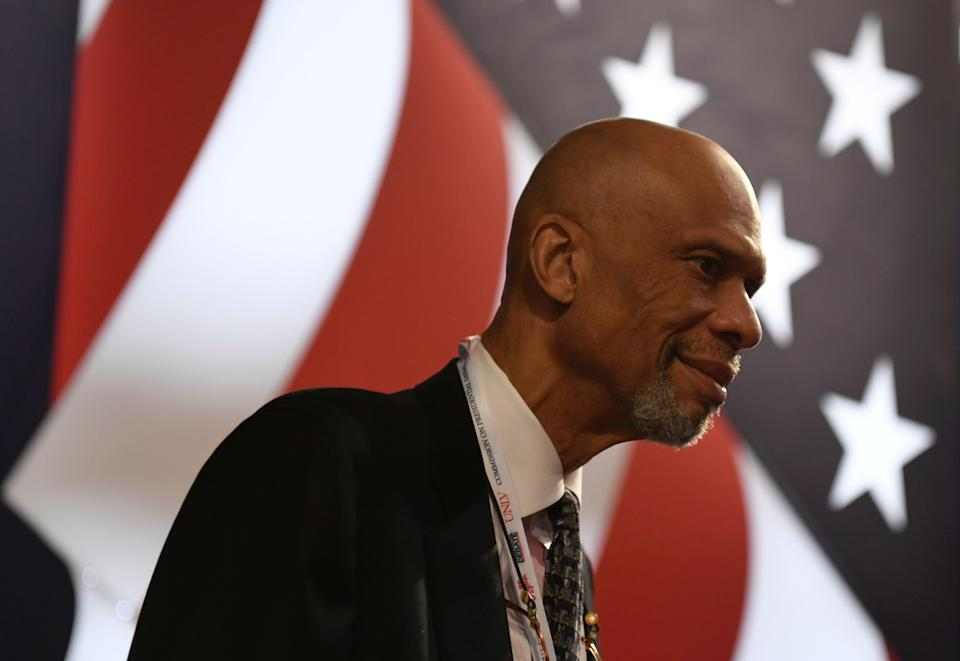 """Kareem Abdul-Jabbar on the progress of racial equality, """"It doesn't all happen at once. It takes a lot of back and forth. But we can get there."""""""