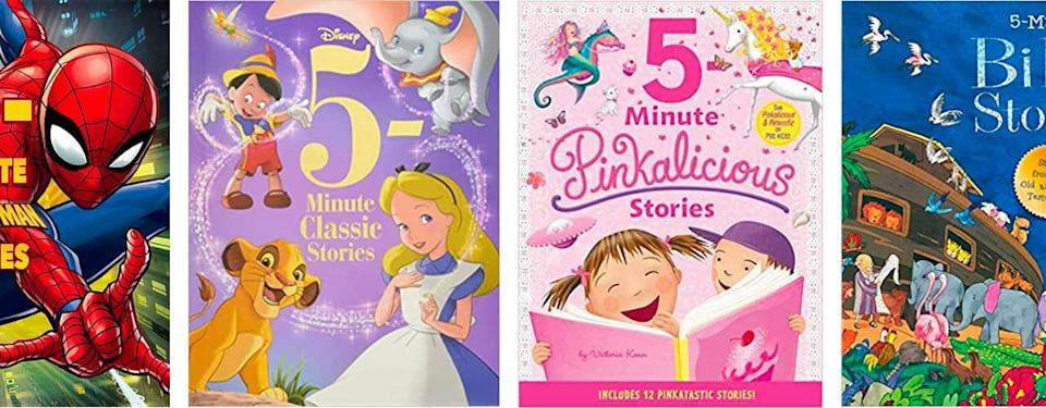 5 minute story covers from various Disney books