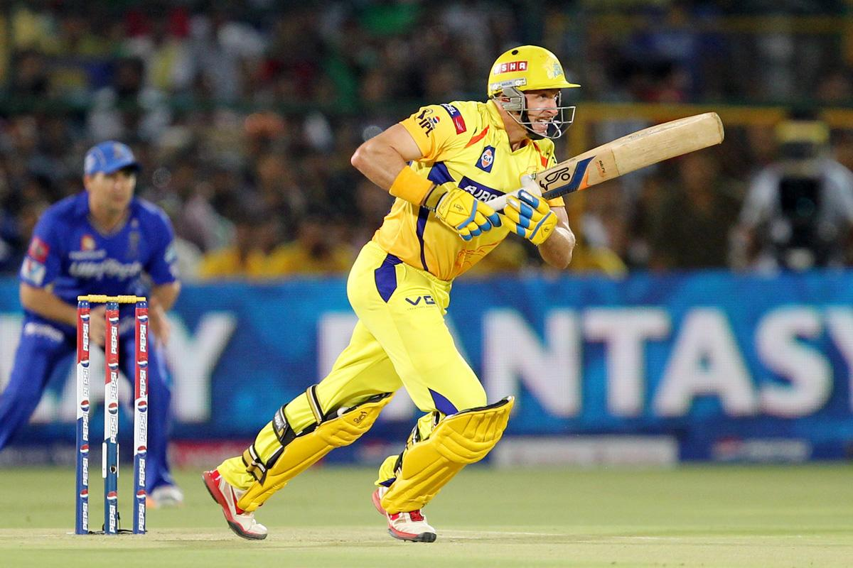 Michael Hussey during match 61 of the Pepsi Indian Premier League ( IPL) 2013  between The Rajasthan Royals and the Chennai Super Kings held at the Sawai Mansingh Stadium in Jaipur on the 12th May 2013. (BCCI)