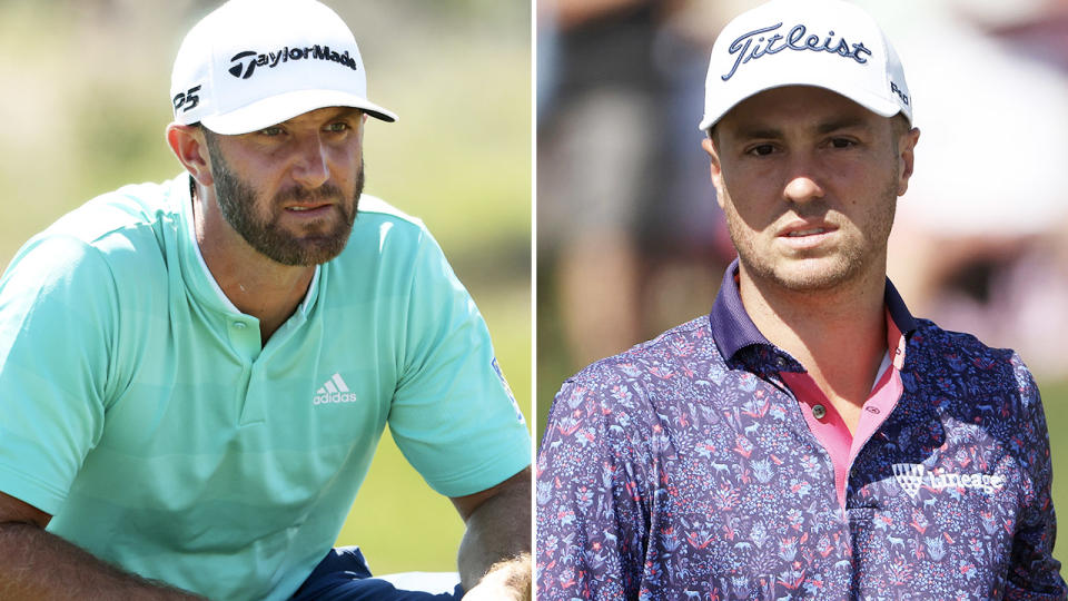 Dustin Johnson and Justin Thomas, pictured here in action at the PGA Championship.