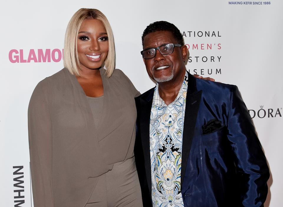 NeNe Leakes and Gregg Leakes attend the 5th annual Women Making History Brunch