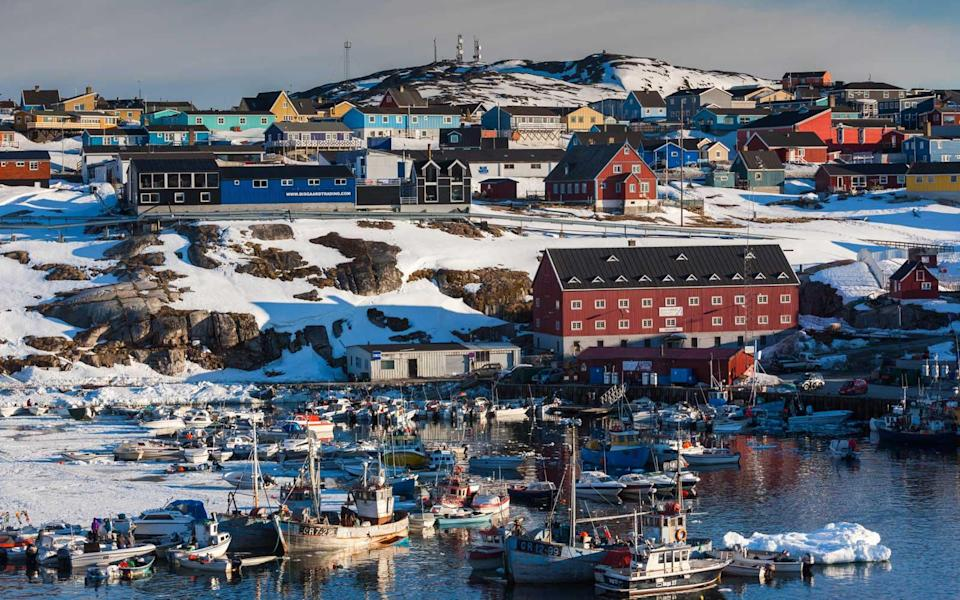 """<p>Forget Times Square this New Year and instead welcome 2018 with nature's own fireworks display at 69° N in <a rel=""""nofollow noopener"""" href=""""https://www.baltictravelcompany.com/packages/new-year-s-eve-in-ilulissat"""" target=""""_blank"""" data-ylk=""""slk:Greenland"""" class=""""link rapid-noclick-resp"""">Greenland</a>, an autonomous country within Denmark. You'll get to celebrate twice; Danish New Year is four hours beforehand, so festivities commence at 8 p.m. and midnight. Will the aurora dance twice to ring in 2018?</p>"""