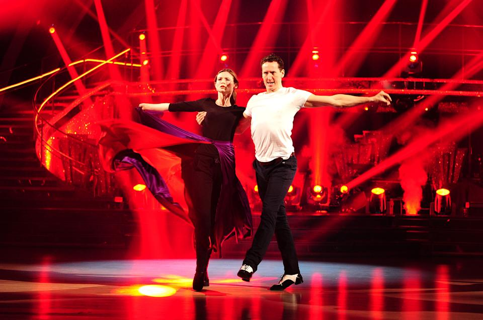 Sophie Ellis Bextor and Brendan Cole rehearse for the Strictly Come Dancing semi-finals at Elstree Studios in Hertfordshire.   (Photo by Ian West/PA Images via Getty Images)