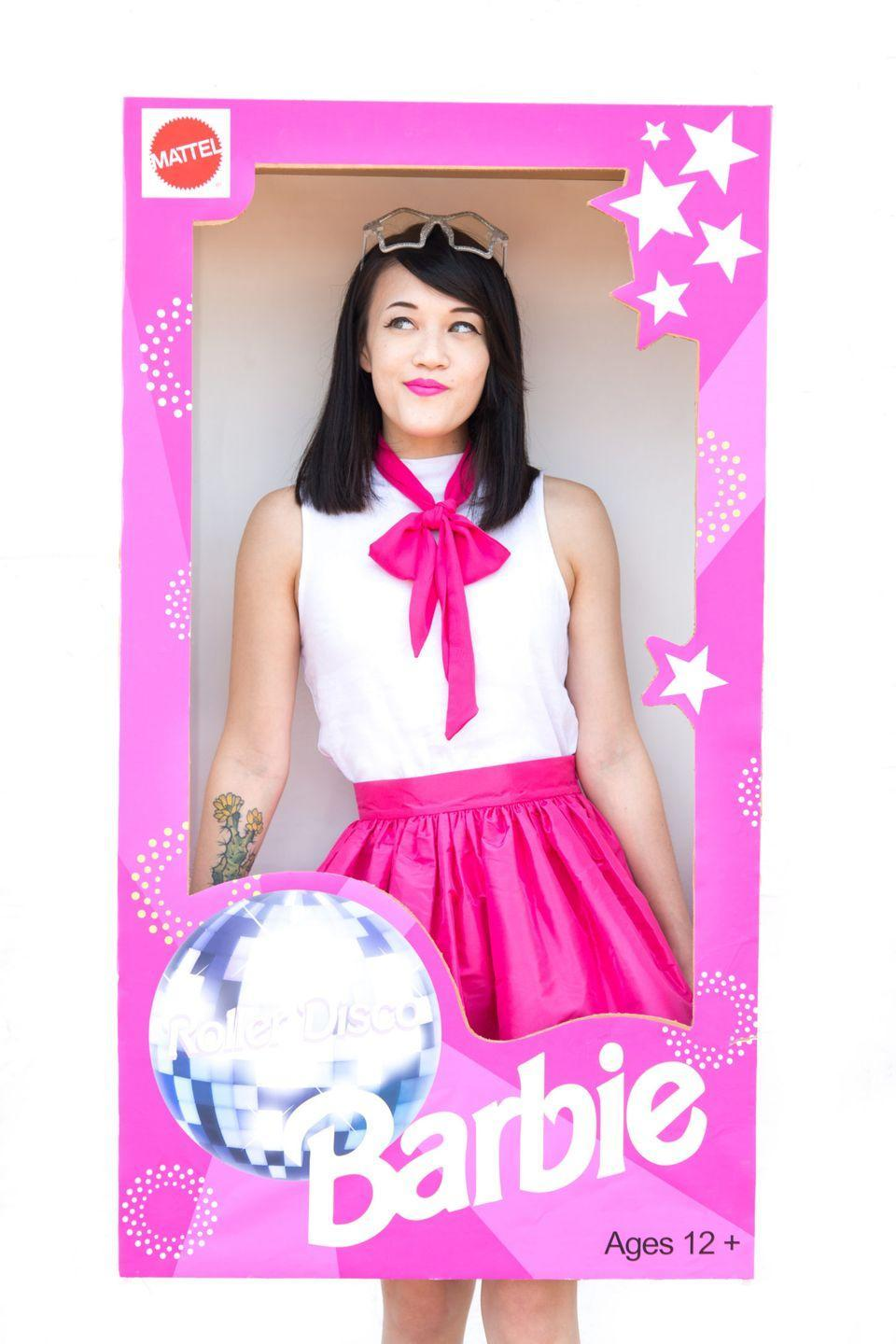 """<p>Few things go together better than the '90s and Barbie. And the fact that this costume is all about roller skating adds an even more nostalgic touch. </p><p><em><a href=""""http://www.awwsam.com/2016/09/diy-roller-disco-barbie-halloween.html"""" rel=""""nofollow noopener"""" target=""""_blank"""" data-ylk=""""slk:Get the tutorial at Aww Sam >>"""" class=""""link rapid-noclick-resp"""">Get the tutorial at Aww Sam >></a></em></p>"""