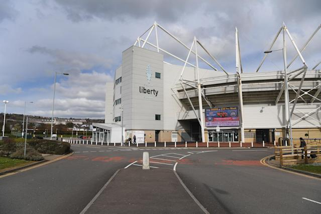 The deserted Liberty Stadium, home of Swansea City Football club, as people flocked to the Welsh countryside. (Getty Images)