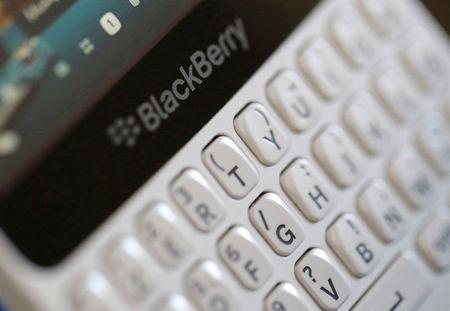FILE PHOTO --  A Blackberry smartphone is displayed in this illustrative picture taken in Bordeaux, Southwestern France