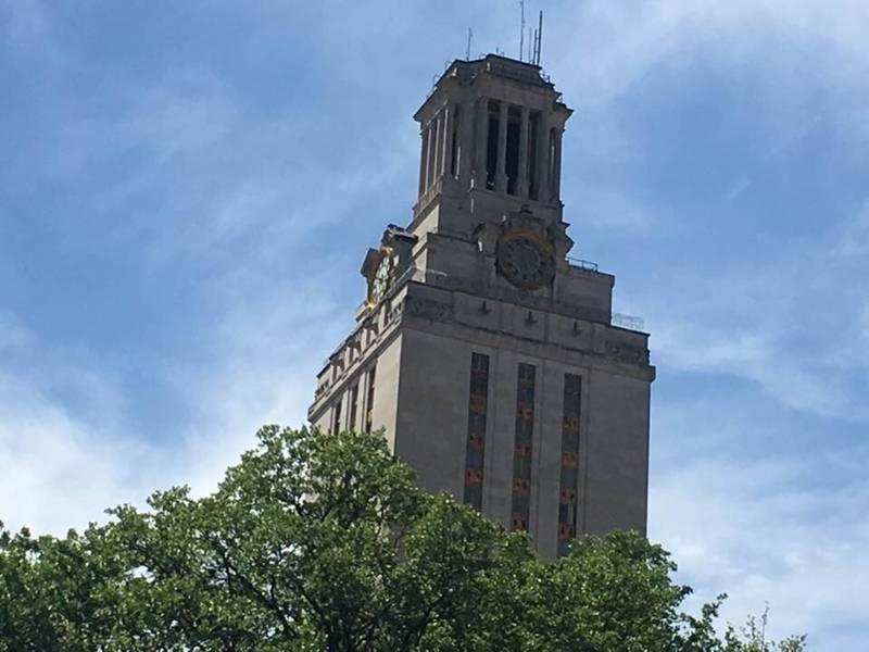 The tower is the centerpiece architectural feature at the UT-Austin campus where coronavirus safeguards are planned for the fall semester.