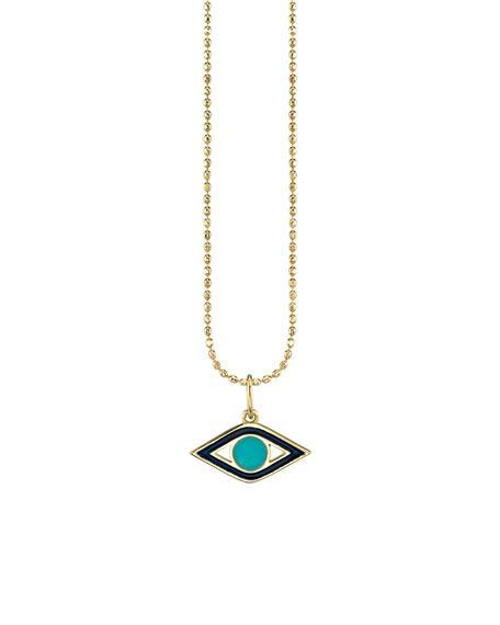 "<br> <br> <strong>Sydney Evan</strong> Enamel Evil Eye Necklace, $, available at <a href=""https://go.skimresources.com/?id=30283X879131&url=https%3A%2F%2Fwww.bergdorfgoodman.com%2Fp%2Fsydney-evan-14k-navy-enamel-turquoise-evil-eye-necklace-prod146130038"" rel=""nofollow noopener"" target=""_blank"" data-ylk=""slk:Bergdorf Goodman"" class=""link rapid-noclick-resp"">Bergdorf Goodman</a>"