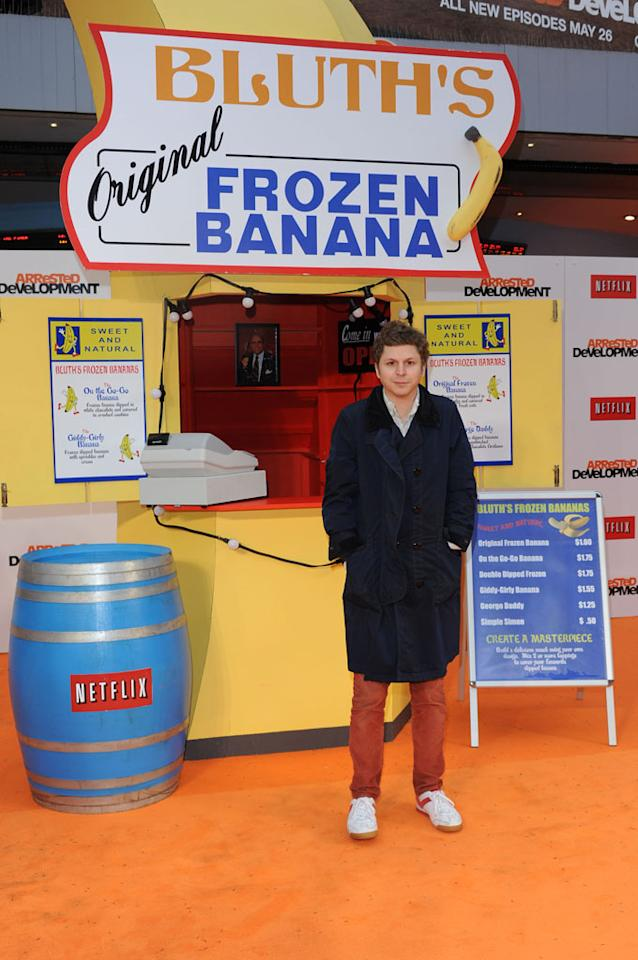 "Michael Cera attends the red carpet premiere for the launch of Netflix Original Series, ""Arrested Development,"" Season 4 on May 09, 2013 at Vue Leicester Square in London, England."