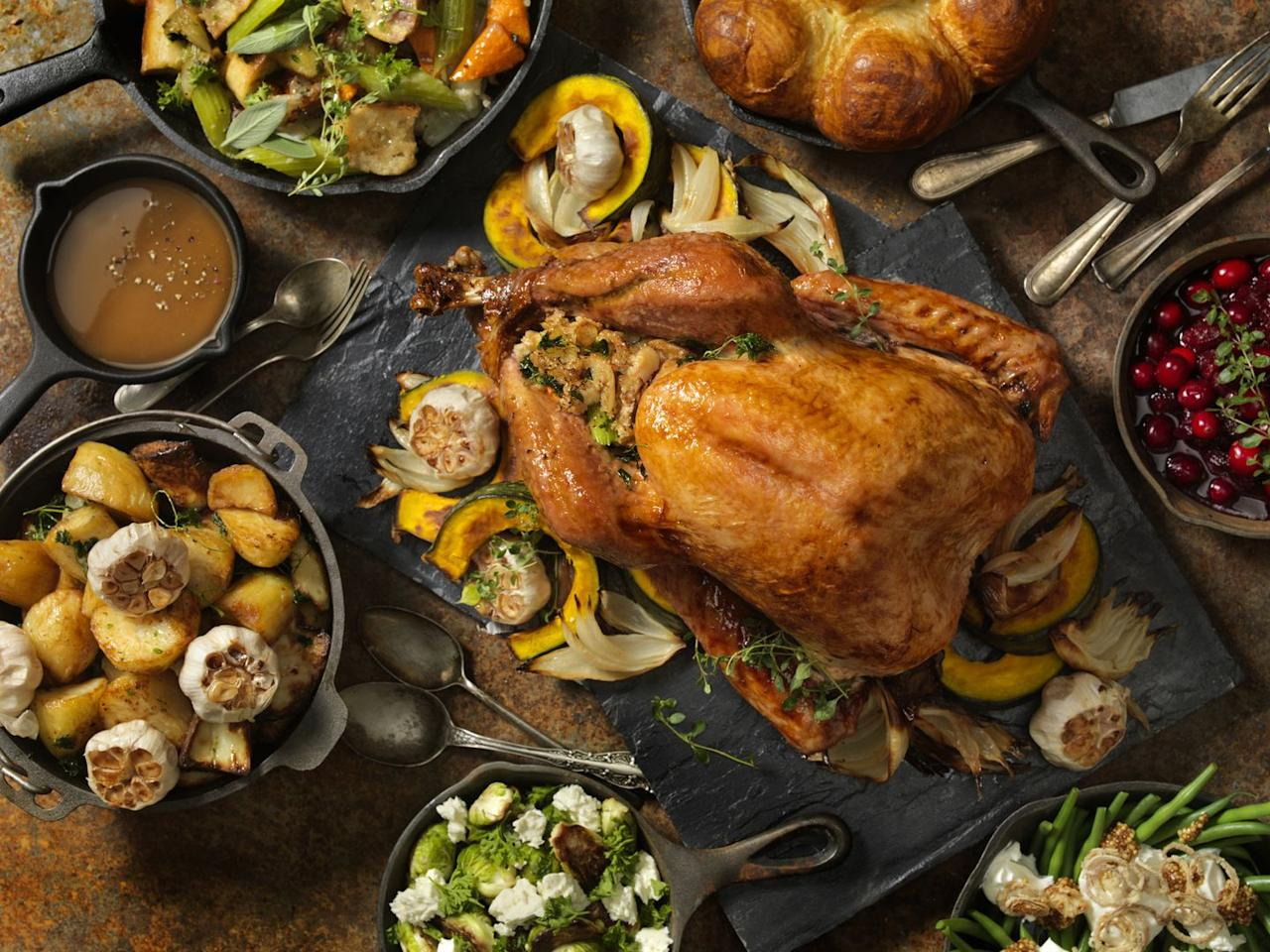 """<p>Roasted turkey is a classic for a reason: it's a fan favorite, and when it's cooked the right way, it's delicious. Plus, it's relatively simple. A roasted turkey cooked at the right temperature with the correct amount of seasoning can be juicy on the inside with a nicely crisped skin.</p><p>Get the recipe from <a href=""""https://www.delish.com/holiday-recipes/thanksgiving/a55338/best-oven-roast-turkey-recipe/"""" target=""""_blank"""">Delish</a>.</p>"""