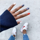 """<p>If you're already intimidated by the idea of painting your own stars and stripes, try these foolproof decals. Simply paint your base, stick 'em on, and show off your patriotic tips!</p><p><a class=""""link rapid-noclick-resp"""" href=""""https://www.amazon.com/eBoot-Pieces-Designs-Stencils-Stickers/dp/B01MR83973/?tag=syn-yahoo-20&ascsubtag=%5Bartid%7C10055.g.1278%5Bsrc%7Cyahoo-us"""" rel=""""nofollow noopener"""" target=""""_blank"""" data-ylk=""""slk:SHOP DECALS"""">SHOP DECALS</a></p>"""