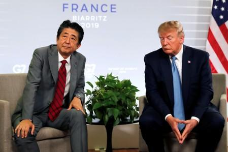 Trump, Abe at odds on North Korea missile launches