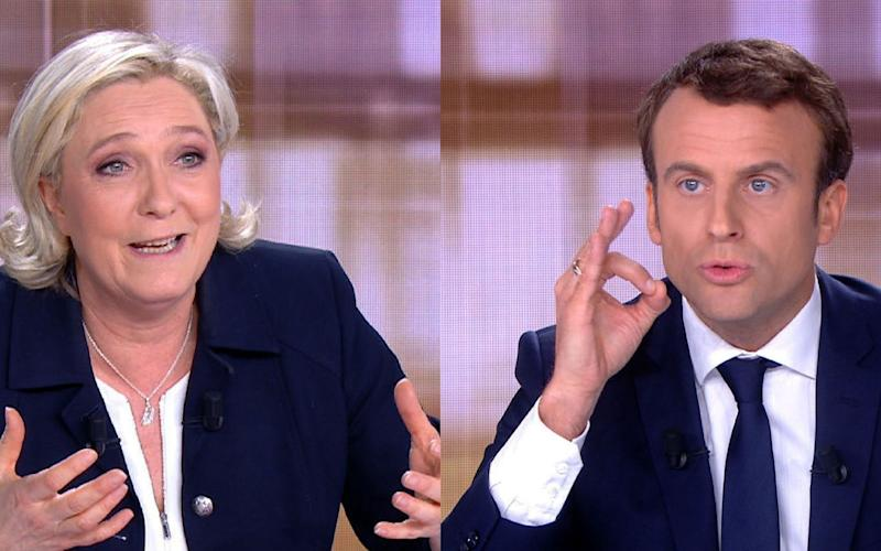Marine Le Pen and Emmanuel Macron - AFP