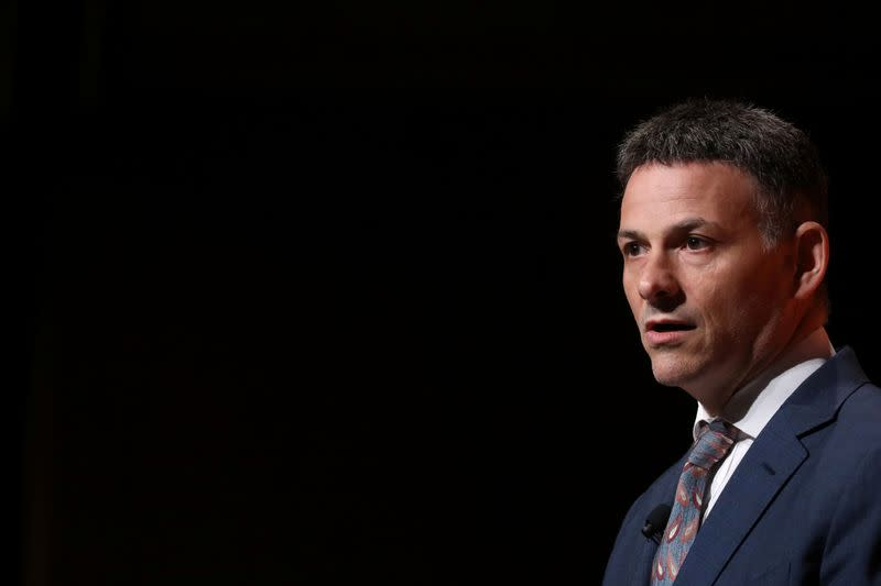David Einhorn, President, Greenlight Capital, Inc. speaks during the 2019 Sohn Investment Conference in New York