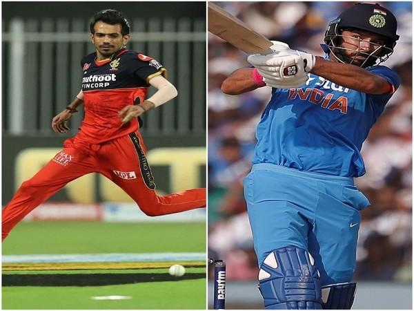 RCB spinner Yuzvendra Chahal. (Image: BCCI/IPL) and former Indian cricketer Yuvraj Singh
