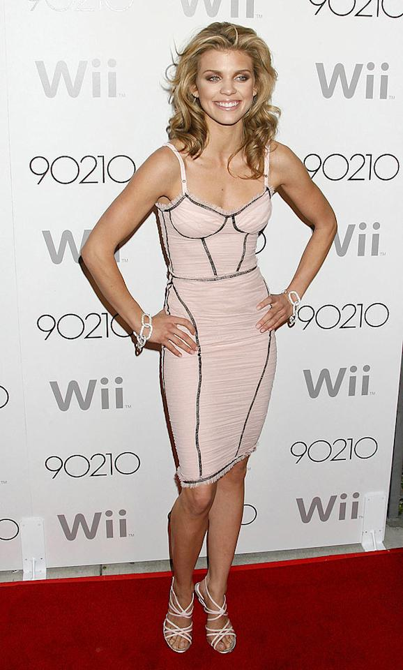 "Naughty ""90210"" vixen AnnaLynne McCord rocked the red carpet at Hollywood hot spot Coco De Ville in a dangerously tight pink Dolce & Gabbana dress and matching pink strappy sandals. Jeffrey Mayer/<a href=""http://www.wireimage.com"" target=""new"">WireImage.com</a> - March 21, 2009"