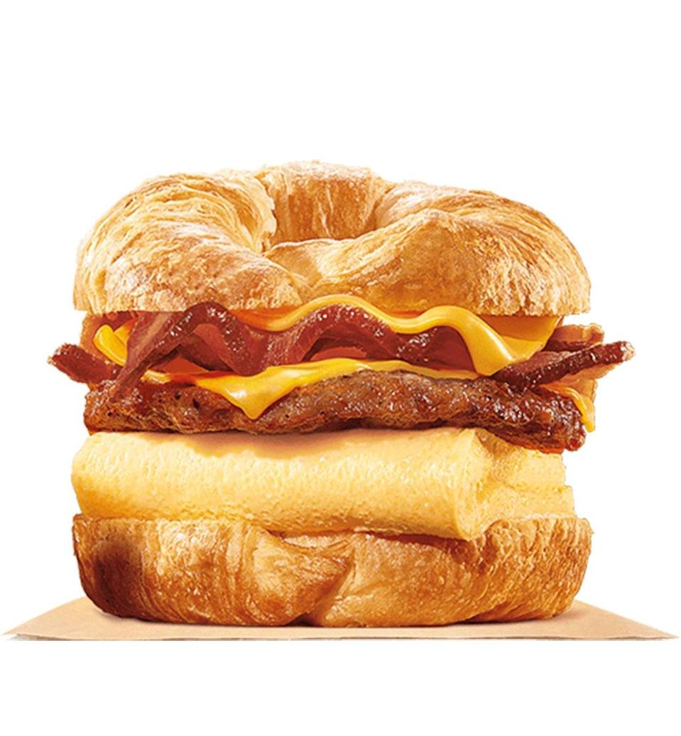 burger king king croissanwich with sausage and bacon