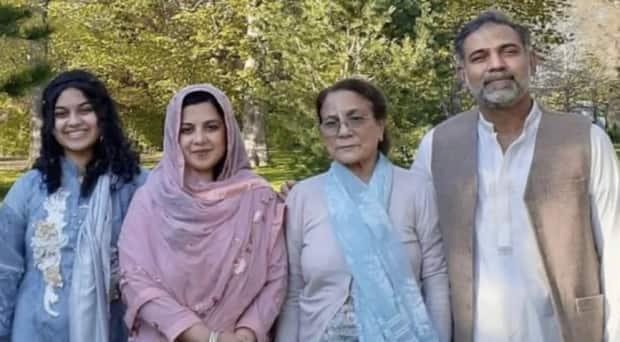 Yumna Afzaal, 15, left, Madiha Salman, 44, centre left, Talat Afzaal, 74, and Salman Afzaal, 46, were out for an evening walk June 6 when they were run over by a man who police say was motivated by anti-Muslim hate. They will be honoured at a funeral Saturday.  (Submitted by Afzaal family - image credit)
