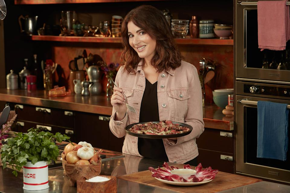 Nigella's Cook, Eat, Repeat - Picture Shows: Steak with Anchovy Elixir. Nigella Lawson - (BBC - Photographer: Jay Brookes)