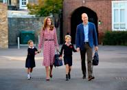 """<p>Kate and William proudly dropped off their older kids at Thomas's Battersea school in London in 2019, and since then both parents have regularly handled the school run.</p> <p>While Kate rightly gets plenty of credit, some of those close to the couple say William's role as co-parent should not be underestimated. The Duke of Cambridge is """"pretty grounded as well,"""" says a source who knows them.</p>"""