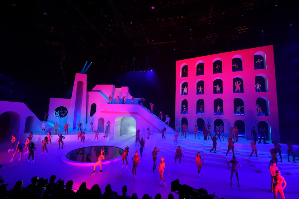 A view of the stage during Savage X Fenty Show Presented by Amazon Prime Video in Brooklyn, New York. (Photo: Dimitrios Kambouris/Getty Images for Savage X Fenty Show Presented by Amazon Prime Video )