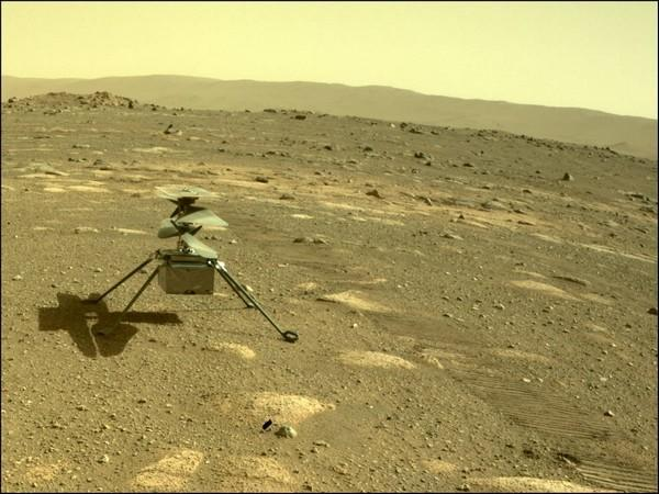 NASA's Ingenuity helicopter on Mars on the 44th Martian day, or sol of the mission (Photo/Credit: NASA/JPL-Caltech)