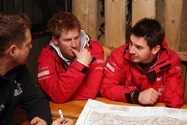 Jaco Van Gass, right, was joined by Prince Harry for part of his North Pole expedition