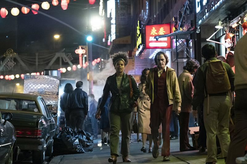Zazie Beatz and Joaquin Phoenix in Joker (Credit: Warner Bros)