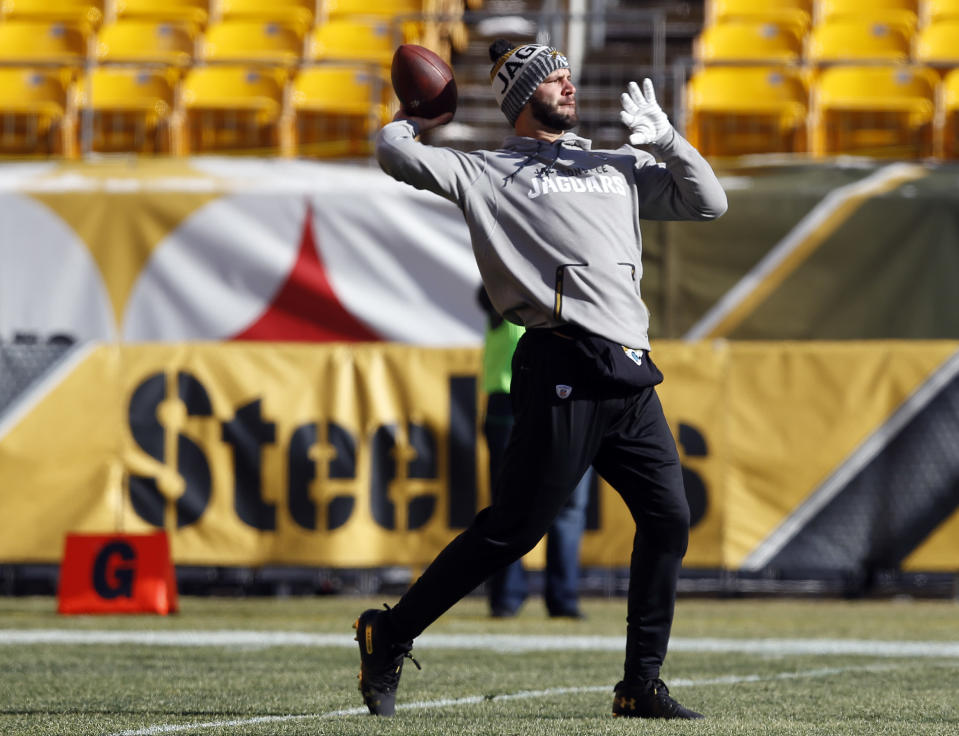 Thanks, man: Bengals fans are donating to Blake Bortles' foundation for knocking the hated Steelers out of the playoffs. (AP)