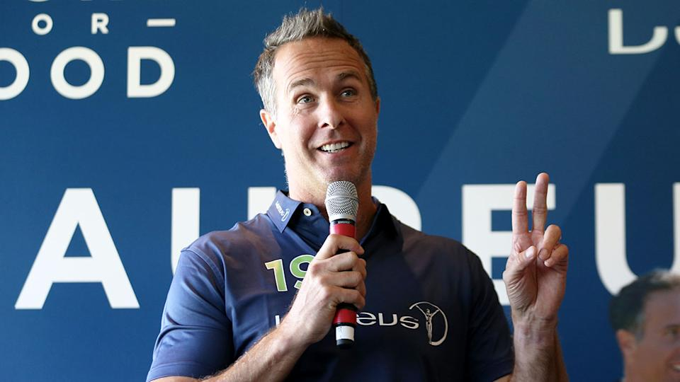 Seen here, former England captain Michael Vaughan has given Jofra Archer some important advice.