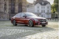 "<p>With a 385-hp twin-turbo V-6 under its hood, the <a href=""https://www.caranddriver.com/mercedes-amg/c43"" rel=""nofollow noopener"" target=""_blank"" data-ylk=""slk:2021 Mercedes-AMG C43"" class=""link rapid-noclick-resp"">2021 Mercedes-AMG C43</a> one-ups its <a href=""https://www.caranddriver.com/mercedes-benz/c-class"" rel=""nofollow noopener"" target=""_blank"" data-ylk=""slk:Benz-branded C300 counterpart"" class=""link rapid-noclick-resp"">Benz-branded C300 counterpart</a> and borrows styling and chassis components from the even <a href=""https://www.caranddriver.com/mercedes-amg/c63"" rel=""nofollow noopener"" target=""_blank"" data-ylk=""slk:racier AMG C63 models"" class=""link rapid-noclick-resp"">racier AMG C63 models</a>. The C43 is offered as a four-door sedan and as a two-door coupe or convertible, the last of which allows open-air enjoyment of the blown V-6's dulcet exhaust tones. All models wear stylish exterior styling and provide a cozy cabin with all the amenities <a href=""https://www.caranddriver.com/mercedes-amg"" rel=""nofollow noopener"" target=""_blank"" data-ylk=""slk:expected of a Mercedes"" class=""link rapid-noclick-resp"">expected of a Mercedes</a>, although two-door models are less practical and offer less space for rear-seat passengers. While its performance isn't as impressive as the more powerful C63, the well-balanced C43's price tag is far more accessible and it retains the fun-to-drive nature and upscale environs of the other C-class models.</p><p><a class=""link rapid-noclick-resp"" href=""https://www.caranddriver.com/mercedes-amg/c43"" rel=""nofollow noopener"" target=""_blank"" data-ylk=""slk:Review, Pricing, and Specs"">Review, Pricing, and Specs</a></p>"