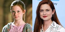 """<p><strong>First Film: </strong><em>Harry Potter and the Sorcerer's Stone</em></p><p><strong>Character Played: </strong>Ginny Weasley</p><p><strong>Age: </strong>29</p><p><a href=""""https://www.insider.com/bonnie-wright-said-discovered-kiss-with-harry-potter-after-friends-2020-4"""" rel=""""nofollow noopener"""" target=""""_blank"""" data-ylk=""""slk:In April, Wright"""" class=""""link rapid-noclick-resp"""">In April, Wright </a>said that she found out she'd share a kiss with Radcliffe's Harry Potter from friends. """"They didn't tell me, but they were like, 'Wait till you get to this page,' as we're all reading it but they read it faster than me."""" In the years since, Wright has moved on to working behind the camera as <a href=""""https://www.varsity.co.uk/news/17329"""" rel=""""nofollow noopener"""" target=""""_blank"""" data-ylk=""""slk:a director and screenwriter."""" class=""""link rapid-noclick-resp"""">a director and screenwriter.</a><em><br></em></p>"""