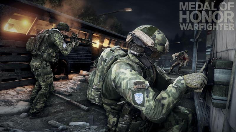 """This product image provided by Electronic Arts shows action from the video game """"Medal of Honor: Warfighter."""" Seven members of the secretive Navy SEAL Team 6, including one involved in the mission to kill Osama bin Laden, have been punished for allegedly divulging classified information to the maker of the game, senior Navy officials said Thursday, Nov. 8, 2012. (AP Photo/Electronic Arts)"""