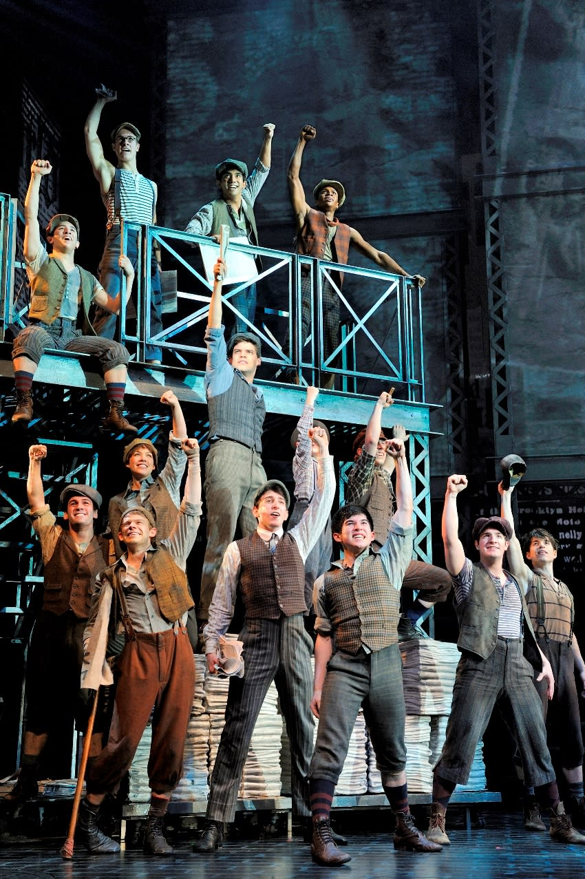 The cast perform The World Will Know (Deen van Meer/Disney Theatrical Productions/PA)