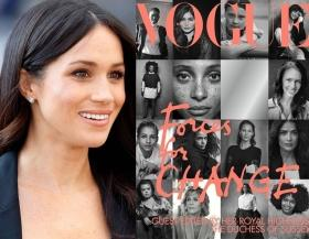 Flattering but disappointing: Meghan Markle accused of copying magazine cover from book