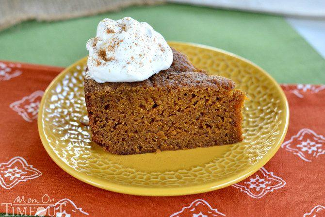 "<strong>Get the <a href=""http://www.momontimeout.com/2013/10/slow-cooker-pumpkin-pie-cake/"" target=""_blank"">Slow Cooker Pumpkin Pie Cake recipe </a>from Mom on Time Out</strong>"