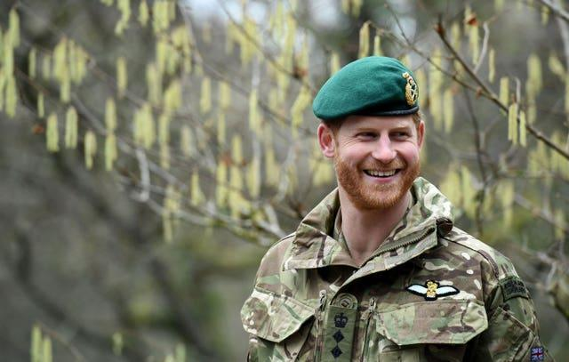 The duke during a visit to 42 Commando Royal Marines