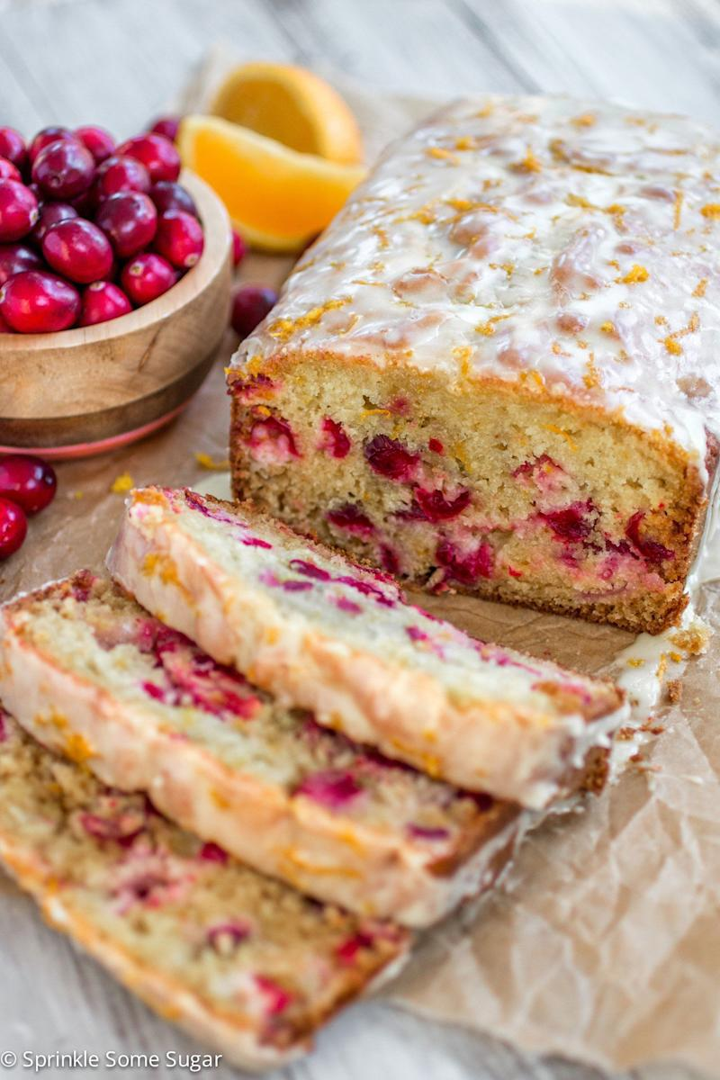 "<strong>Get the recipe for <a href=""http://www.sprinklesomesugar.com/glazed-cranberry-orange-bread/"" target=""_blank"">Glazed Cranberry Orange Bread</a> from Sprinkle Some Sugar</strong>"