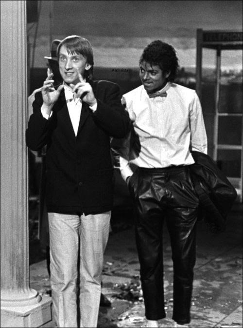 Steve Barron and Michael Jackson. (Photo: Courtesy of Steve Barron)
