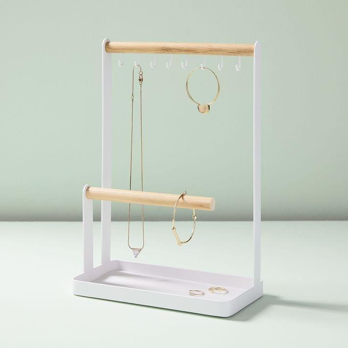 <p>This dainty <span>West Elm Yamazaki Accessory Stand</span> ($36) is perfect for someone who has a select few pieces of jewelry.</p>